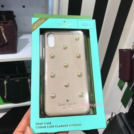 kate spade new york スマホケース・テックアクセサリー 【kate spade】上品パール★pearl applique iPhone7/8 Plus or X(4)