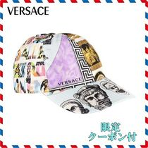 18SS新作◆VERSACE◆プリントロゴキャップ