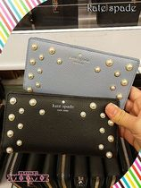 IDケース付きパール付き長財布kate spade☆pearl stacy