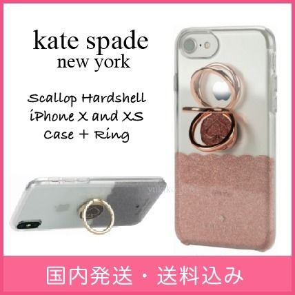 kate spade new york スマホケース・テックアクセサリー 【国内発送】Scallop Hardshell iPhone X and XS Caseセール
