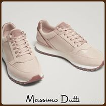 MassimoDutti♪NUDE COMBINED LEATHER SNEAKERS