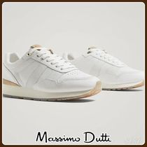 MassimoDutti♪WHITE LEATHER SNEAKERS