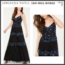 【海外限定】AdriannaPapellガウン☆Sequin-Embellished Sleevel