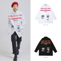 [OPENTHEDOOR] print lettering long shirts (2 color) - UNISEX