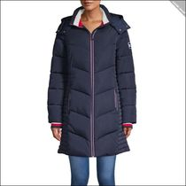 【Tommy Hilfiger】Long Chevron Quilted Puffer Coat