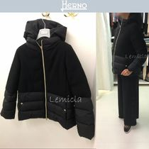 HERNO(ヘルノ) キッズアウター 18/19AW◆大人OK◆HERNO 12A/14A◆大人気 ダウン切替 ウール◆BK