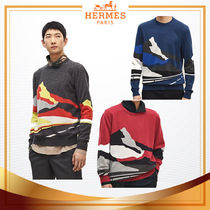 """18-19AW 【 HERMES 】 Pull col rond """"Endless Road"""" カシミア"""
