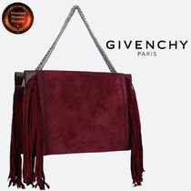 ∮GIVENCHY∮ フリンジdetailクロス3レザー&suedeバッグ 関送込!
