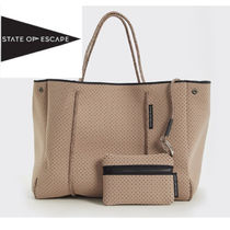 State of escapeのトートバック☆AU発限定色トープ(Taupe)☆