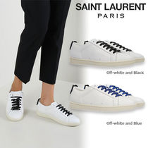 SAINT LAURENT Court Classic SL/06 リップスレザースニーカー