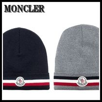 【海外発送】MONCLER★18AW Tricolor Hat in Virgin Wool