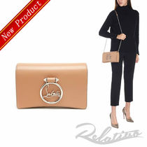 ★18AW★【Louboutin】Rubylou 2WAY クラッチ/Nude
