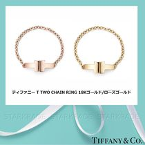 [Tiffany & Co] ティファニー T Two Chain Ring Gold/Rose Gold