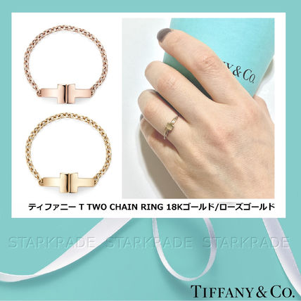 Tiffany & Co 指輪・リング [Tiffany & Co] ティファニー T Two Chain Ring Gold/Rose Gold