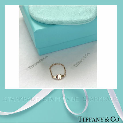 Tiffany & Co 指輪・リング [Tiffany & Co] ティファニー T Two Chain Ring Gold/Rose Gold(2)