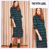 The Fifth Label ワンピース 【最短当日発送】The Fifth Label チェック MIDI DRESS