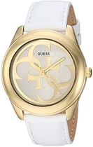 GUESS Women's Quartz Stainless Steel and Leather Casual Wa