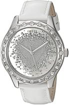 GUESS Women's U0909L1 Trendy Silver-Tone Watch with Silver