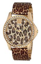 ゲスGUESS 腕時計 Animal Print Mesh GoldTone Watch U0333L1 レ