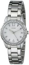 ゲス GUESS Women's U0445L1 Feminine Silver-Tone Watch 女性