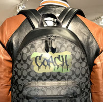 ☆COACH☆WEST BACKPACK IN SIGNATURE CANVAS WITH GRAFFITI