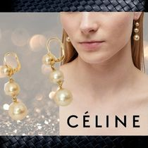 **CELINE**Dot earrings made of glass beads and brass☆ピアス