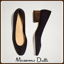 MassimoDutti♪BLUE SUEDE COURT SHOES