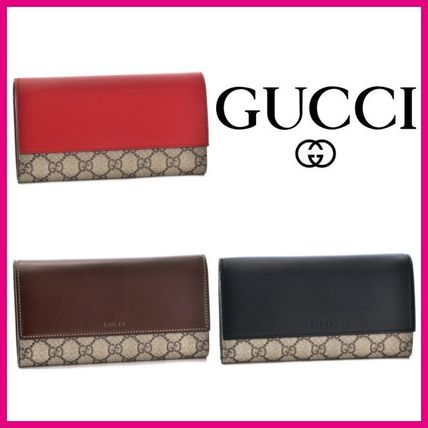 new concept cfbcd 03ccf ★GUCCI/グッチ★ツートン×フラップ財布×3カラー★最新作★