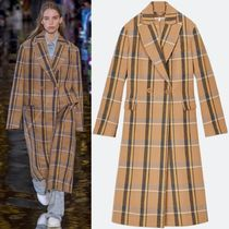 18-19AW SM492 LOOK30 CHECKED WOOL KATHERINE COAT
