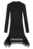 LV◆価格変更可 Wool Dress With Lace Inserts