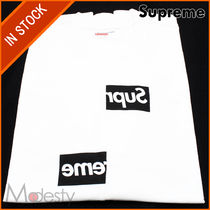 [即発]COMME DES GARCONS SHIRT SPLIT BOX LOGO TEE WHITE SMALL