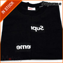 [即発]COMME DES GARCONS SHIRT SPLIT BOX LOGO TEE BLACK SMALL
