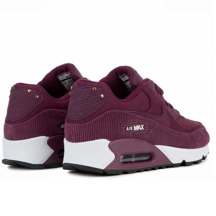 Nike スニーカー 【Nike】W AIR MAX90 LEATHER★ボルドー 921304-601(2)