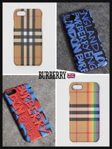 《Burberry》人気話題◆Vintage Check Leather iPhone 8 Case