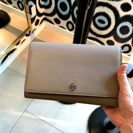 Tory Burch EMERSON CHAIN WALLET★ショルダーバッグ★グレー