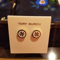 2018AW♪ Tory Burch ★ LACQUERED LOGO STUDS EARRING: ピアス