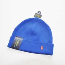 RALPH LAUREN / ポロラルローレン THERMAL CUFFED BEANIE ブルー