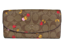 COACH Cherry Signature Slim Envelope F31562