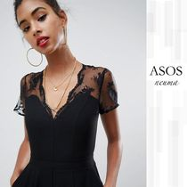 ASOS(エイソス) オールインワン・サロペット ASOS Design jumpsuit with lace detail & tapered leg