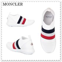 【海外発送】MONCLER★18AW 	Jersey Shoes with Tricolor Band