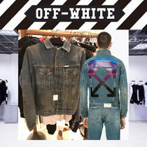 【18AW NEW】 Off-White men/VINTAGE DENIM JACKET Gジャン/BL