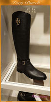 18'Tory BurchロングブーツADELINE TUMBLED RIDING BOOT★黒