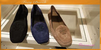 TORY BURCH★FITZ LOAFER KID SUEDE★ロゴ付きローファー3色