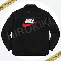 S /M /Lサイズ/Supreme Nike Double Zip Quilted Work Jacket 黒