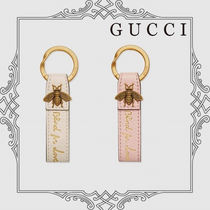 GUCCI Blind for Love レザー キーリング 国内直営店 すぐ届く