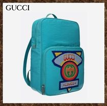 GUCCI(グッチ)★Gucci 80's patch technical nylon backpack