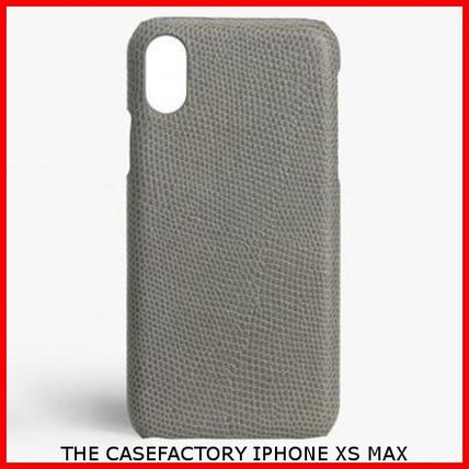 THE CASE FACTORY スマホケース・テックアクセサリー 関税送料込☆THE CASEFACTORY☆IPHONE XS MAX LIZARD GREY