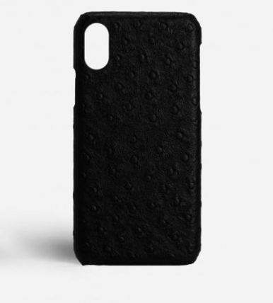 THE CASE FACTORY スマホケース・テックアクセサリー 関税送料込☆THE CASEFACTORY☆IPHONE XS MAX OSTRICH BLACK(2)