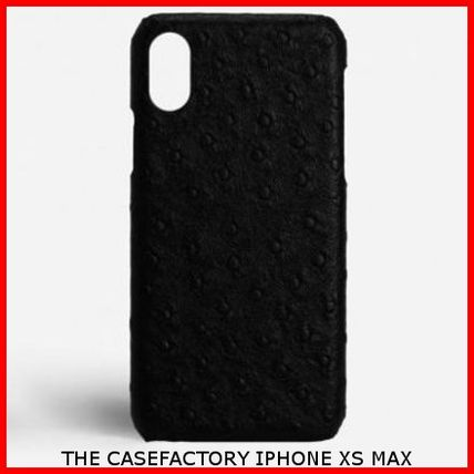 THE CASE FACTORY スマホケース・テックアクセサリー 関税送料込☆THE CASEFACTORY☆IPHONE XS MAX OSTRICH BLACK