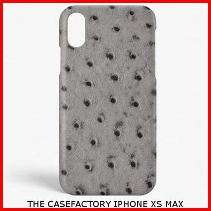 THE CASE FACTORY スマホケース・テックアクセサリー 関税送料込☆THE CASEFACTORY☆IPHONE XS MAX OSTRICH GREY